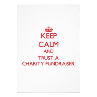 Keep Calm and Trust a Charity Fundraiser Invitation