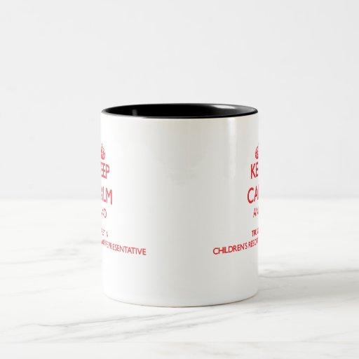 Keep Calm and Trust a Children's Resort Representa Mugs