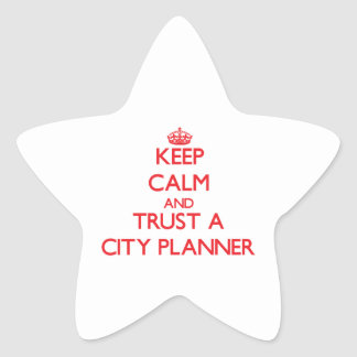 Keep Calm and Trust a City Planner Star Stickers