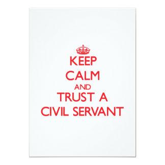 Keep Calm and Trust a Civil Servant 13 Cm X 18 Cm Invitation Card