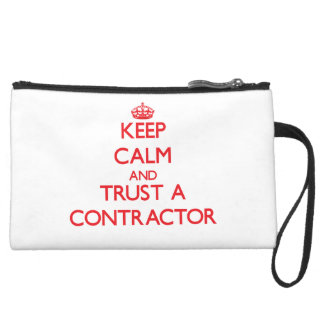 Keep Calm and Trust a Contractor Wristlet Clutch