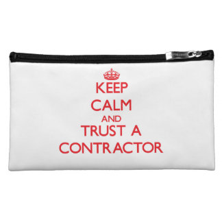 Keep Calm and Trust a Contractor Makeup Bag