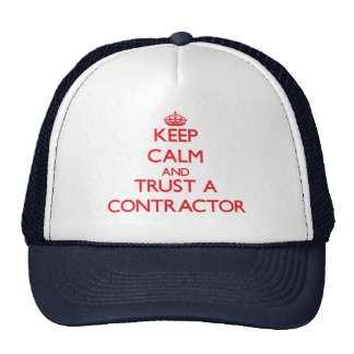 Keep Calm and Trust a Contractor Mesh Hats