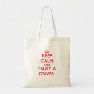 Keep Calm and Trust a Driver Canvas Bag