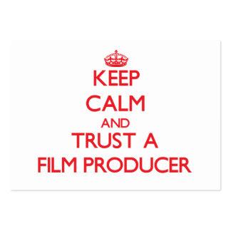 Keep Calm and Trust a Film Producer Business Card Templates