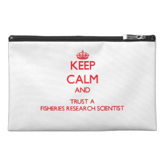 Keep Calm and Trust a Fisheries Research Scientist Travel Accessory Bag