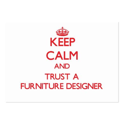 Keep Calm and Trust a Furniture Designer Business Card Templates