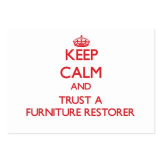 Keep Calm and Trust a Furniture Restorer Business Cards