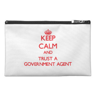Keep Calm and Trust a Government Agent Travel Accessories Bag
