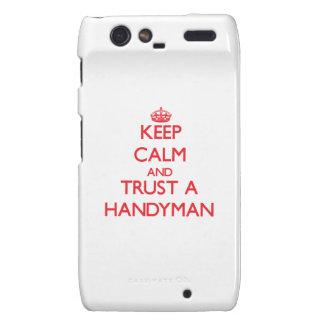 Keep Calm and Trust a Handyman Droid RAZR Cases
