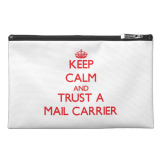 Keep Calm and Trust a Mail Carrier Travel Accessory Bags