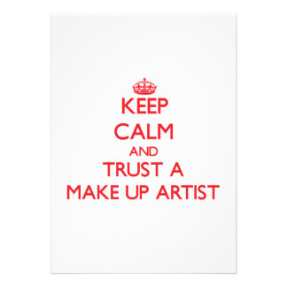 Keep Calm and Trust a Make Up Artist Cards