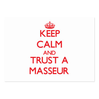 Keep Calm and Trust a Masseur Business Cards