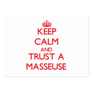 Keep Calm and Trust a Masseuse Business Cards