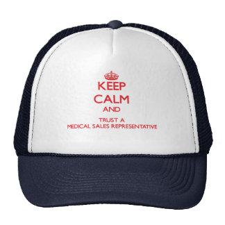 Keep Calm and Trust a Medical Sales Representative Trucker Hats