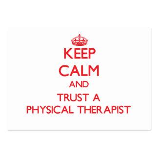 Keep Calm and Trust a Physical arapist Business Card Templates