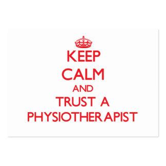 Keep Calm and Trust a Physioarapist Business Cards