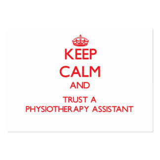 Keep Calm and Trust a Physioarapy Assistant Business Card Template
