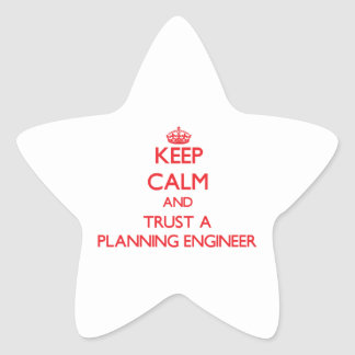 Keep Calm and Trust a Planning Engineer Sticker