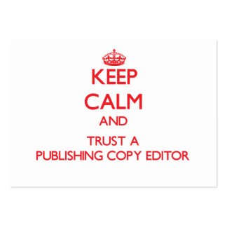 Keep Calm and Trust a Publishing Copy Editor Business Cards
