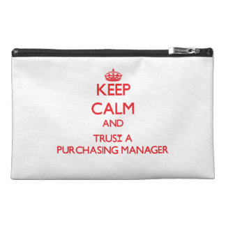 Keep Calm and Trust a Purchasing Manager Travel Accessories Bags