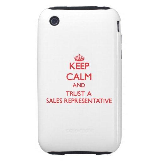 Keep Calm and Trust a Sales Representative Tough iPhone 3 Cover