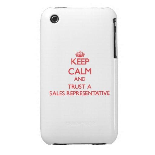 Keep Calm and Trust a Sales Representative iPhone 3 Case