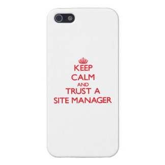 Keep Calm and Trust a Site Manager iPhone 5/5S Cover