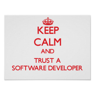 Keep Calm and Trust a Software Developer Posters