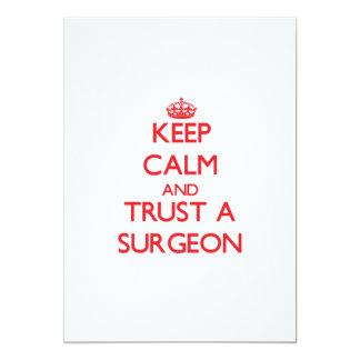 Keep Calm and Trust a Surgeon Custom Invitation