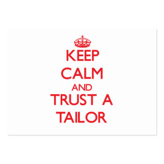 Keep Calm and Trust a Tailor Business Card Template