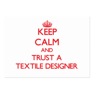 Keep Calm and Trust a Textile Designer Business Card