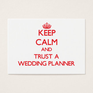 Keep Calm and Trust a Wedding Planner Business Card