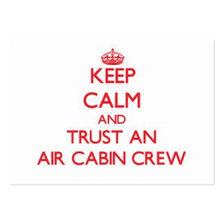 Keep Calm and Trust an Air Cabin Crew Business Card Template