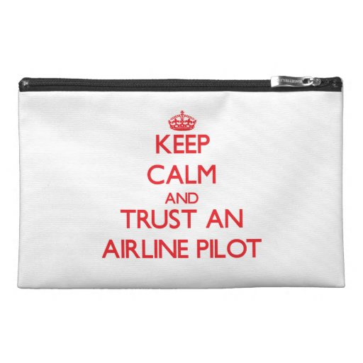 Keep Calm and Trust an Airline Travel Accessory Bags