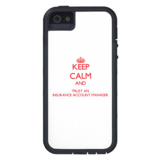 Keep Calm and Trust an Insurance Account Manager iPhone 5 Cover