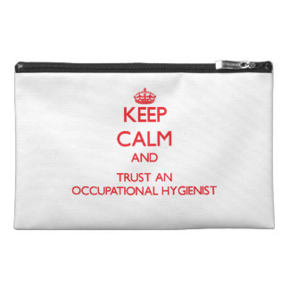Keep Calm and Trust an Occupational Hygienist Travel Accessories Bags