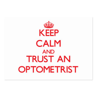 Keep Calm and Trust an Optometrist Business Card Template