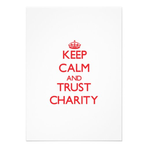 Keep Calm and TRUST Charity Personalized Invite