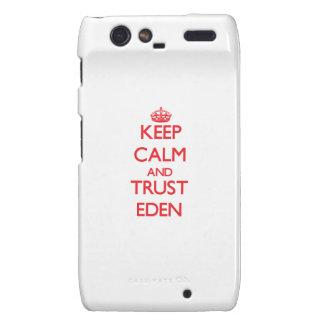Keep Calm and TRUST Eden Motorola Droid RAZR Cases