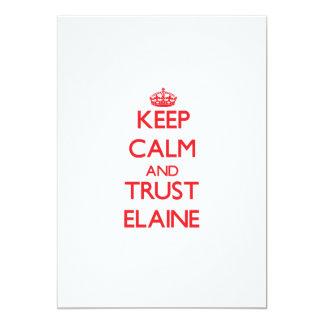 Keep Calm and TRUST Elaine 13 Cm X 18 Cm Invitation Card