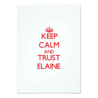 Keep Calm and TRUST Elaine Personalized Announcements
