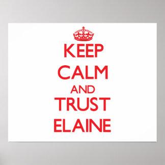 Keep Calm and TRUST Elaine Print