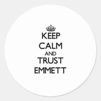 Keep Calm and TRUST Emmett Stickers