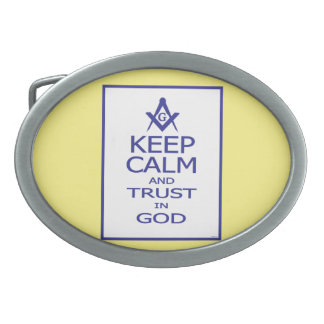 KEEP CALM AND TRUST IN GOD BELT BUCKLES