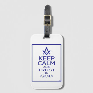 KEEP CALM AND TRUST IN GOD LUGGAGE TAG