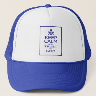 KEEP CALM AND TRUST IN GOD TRUCKER HAT