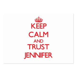 Keep Calm and TRUST Jennifer Pack Of Chubby Business Cards