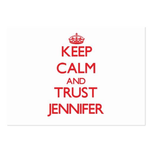 Keep Calm and TRUST Jennifer Business Card Templates