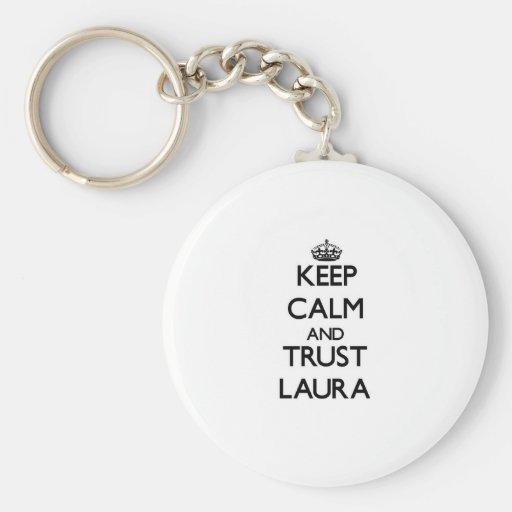 Keep Calm and trust Laura Keychain
